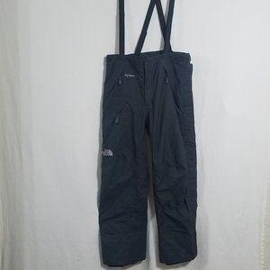 North Face Mens Bibs Gray Black Medium Snow Pants